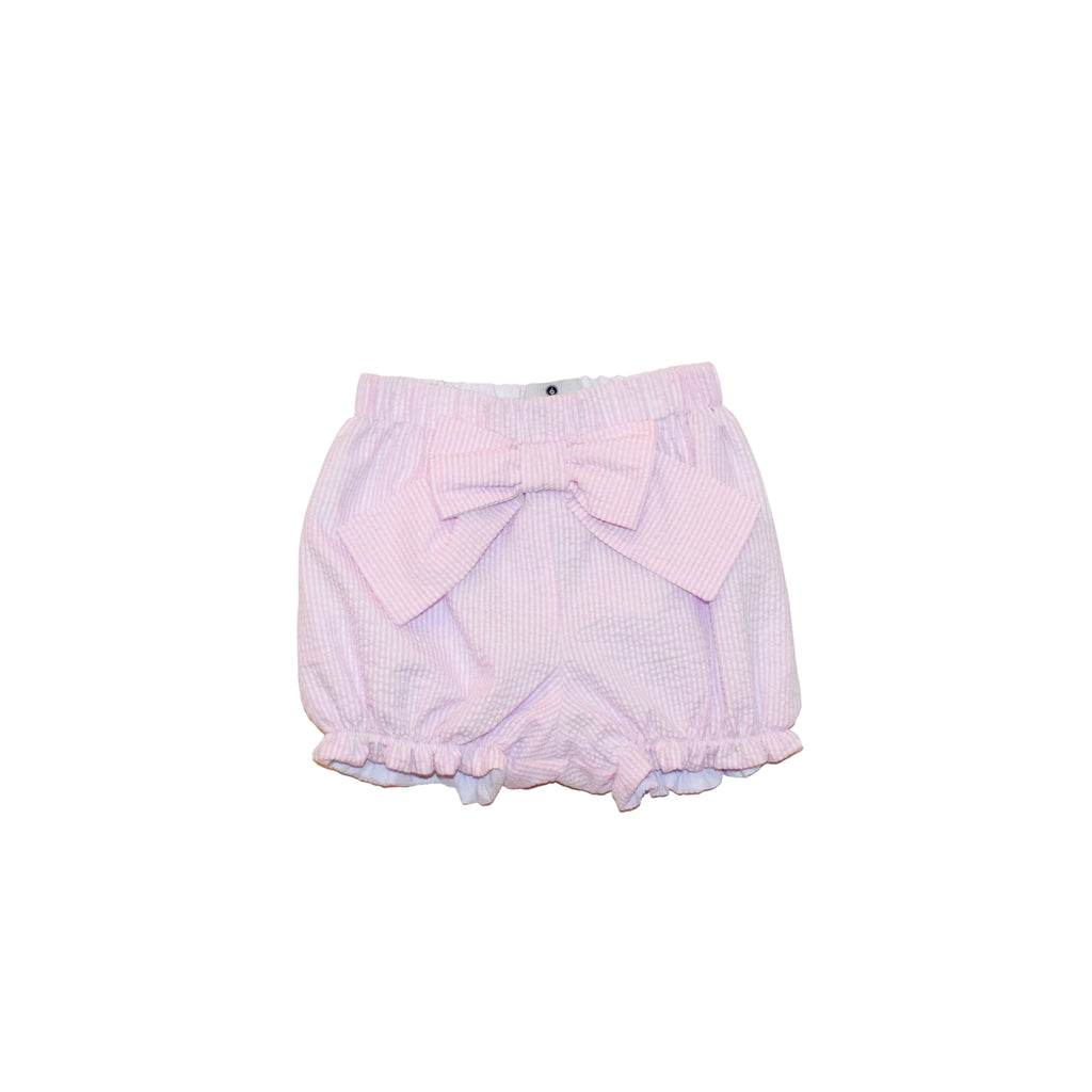Boardwalk Shorts-Pink Seersucker
