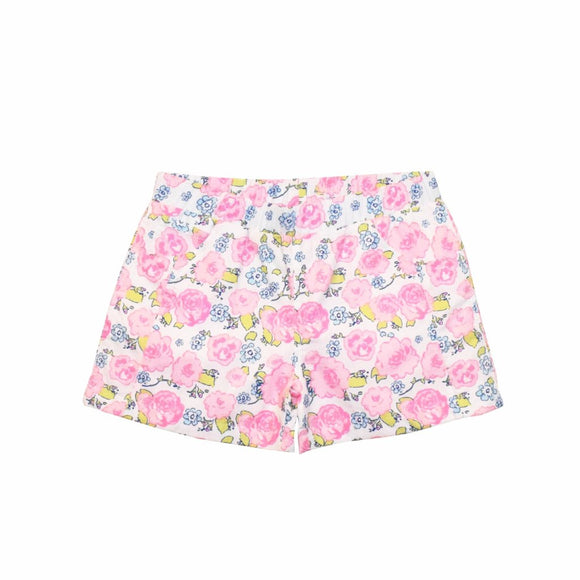 Poplin Play Shorts-English Garden