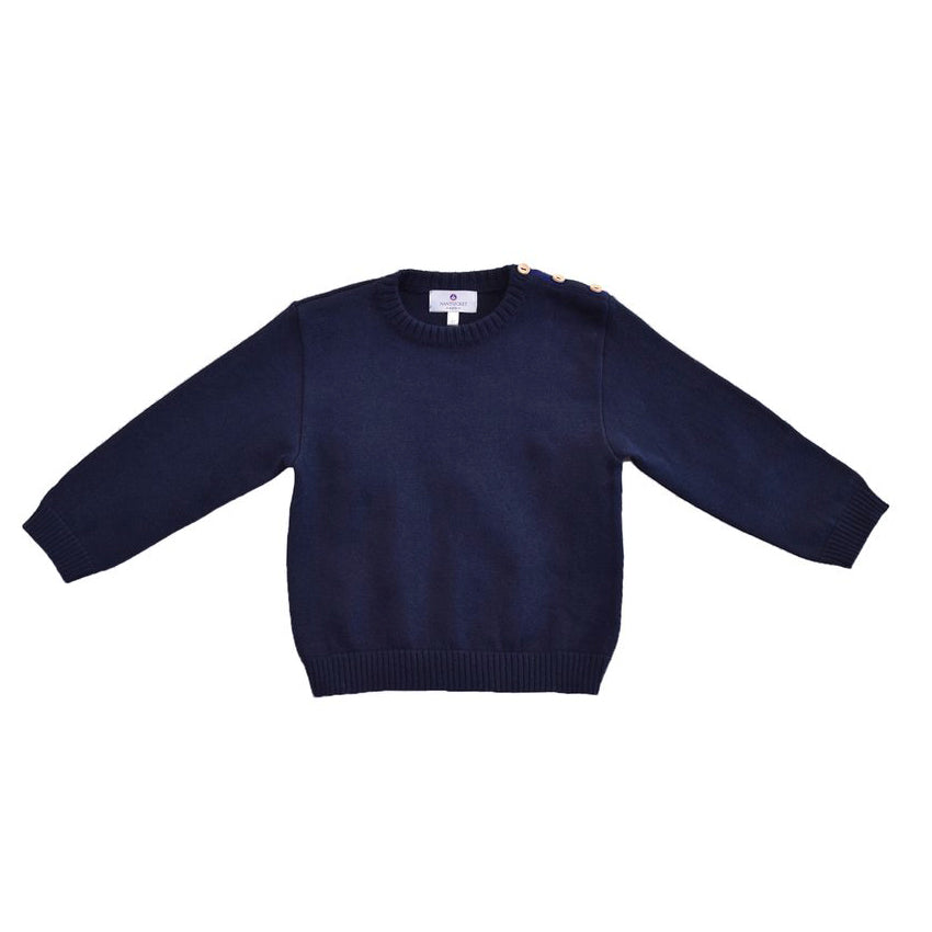 Pima Crewneck Sweater-Nautical Navy