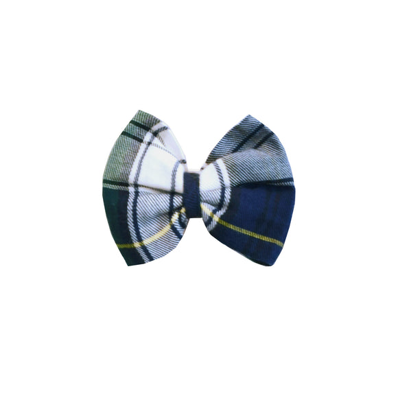 Holly Hair Bow-Hunter/Navy Tartan