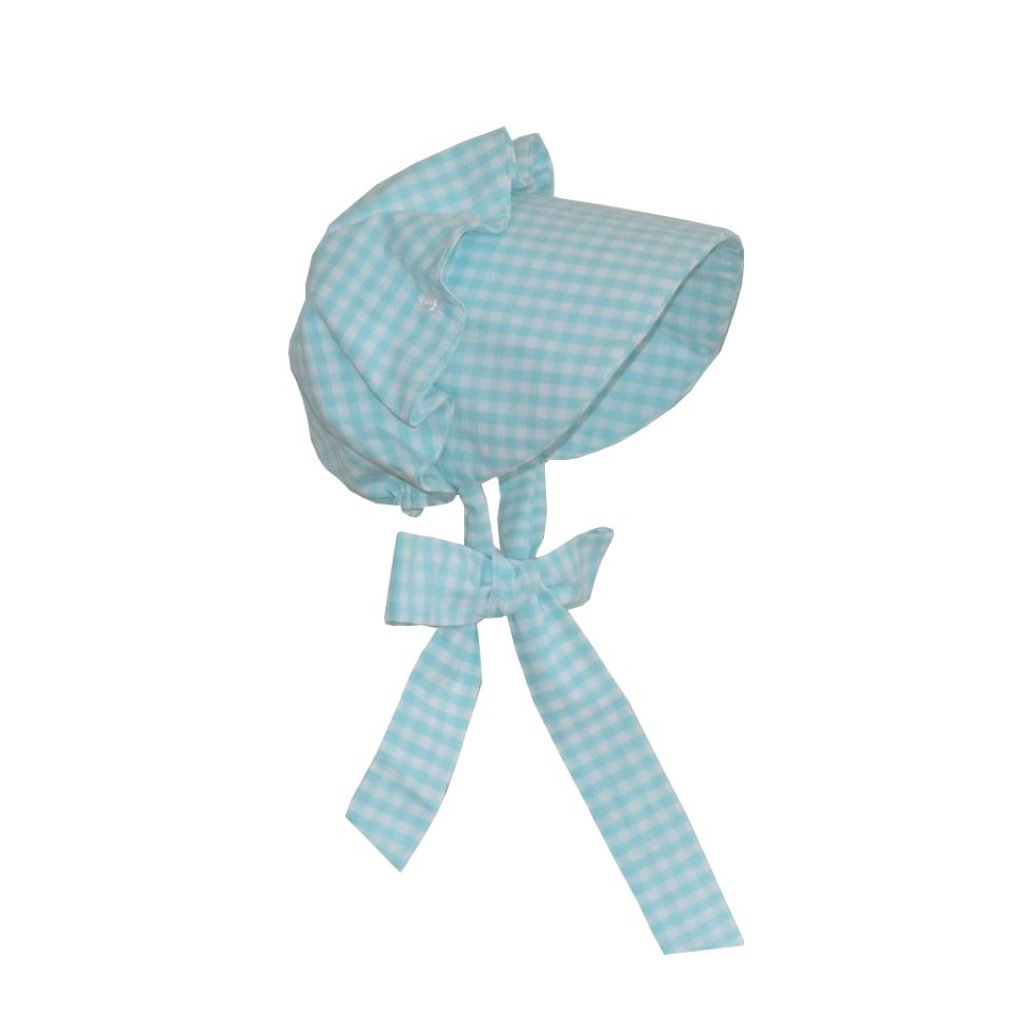 Beatrice Bonnet-Aqua Gingham