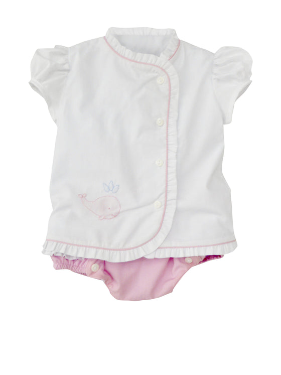 Whale Watch Diaper Set-Baby Pink
