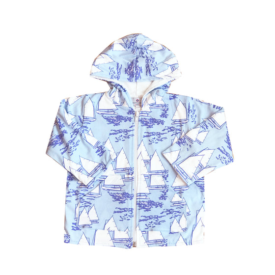 Atlantic Cup Beach Jacket-Blue