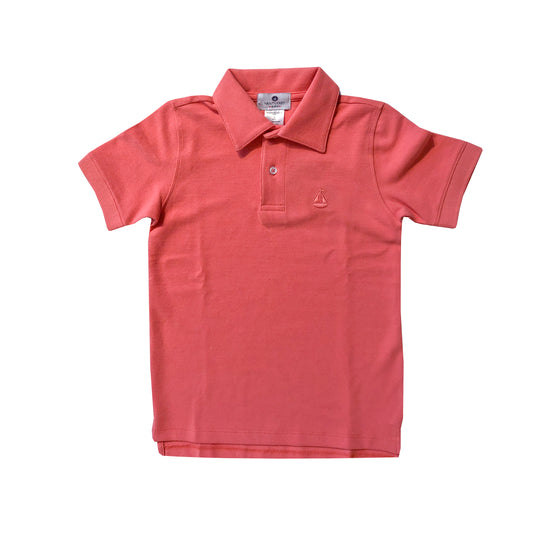 Set Sail Pique Polo-Coral Reef