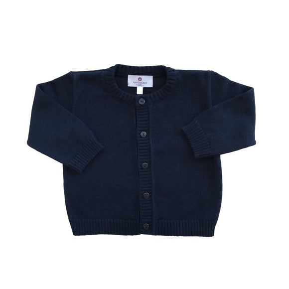 Pima Cotton Cardigan-Nautical Navy
