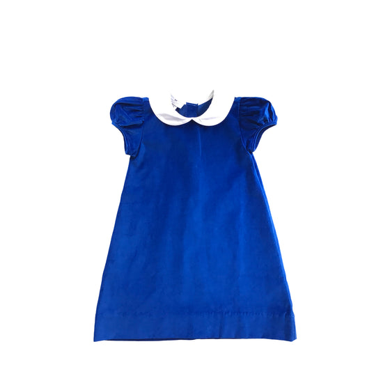 Penny Dress-Cobalt Velveteen