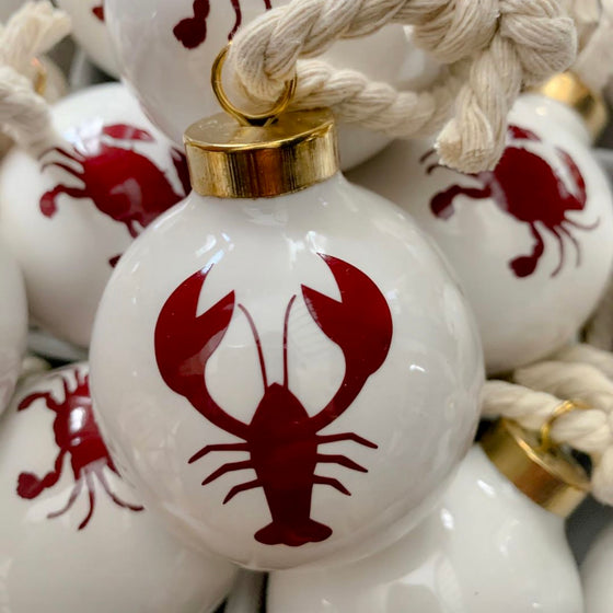 Lobster Holiday Ornament-Red