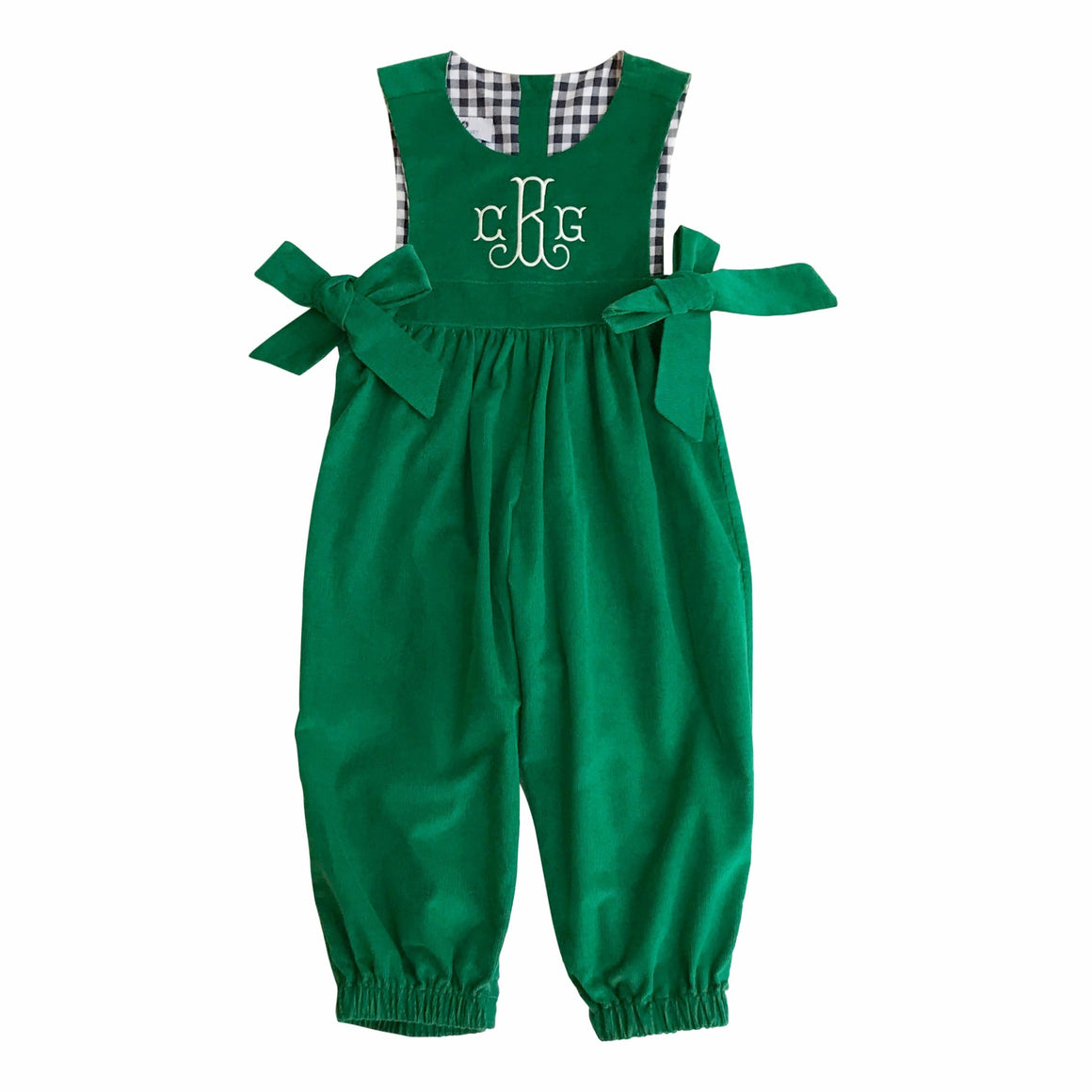 Boardwalk Romper-Greenwich Green