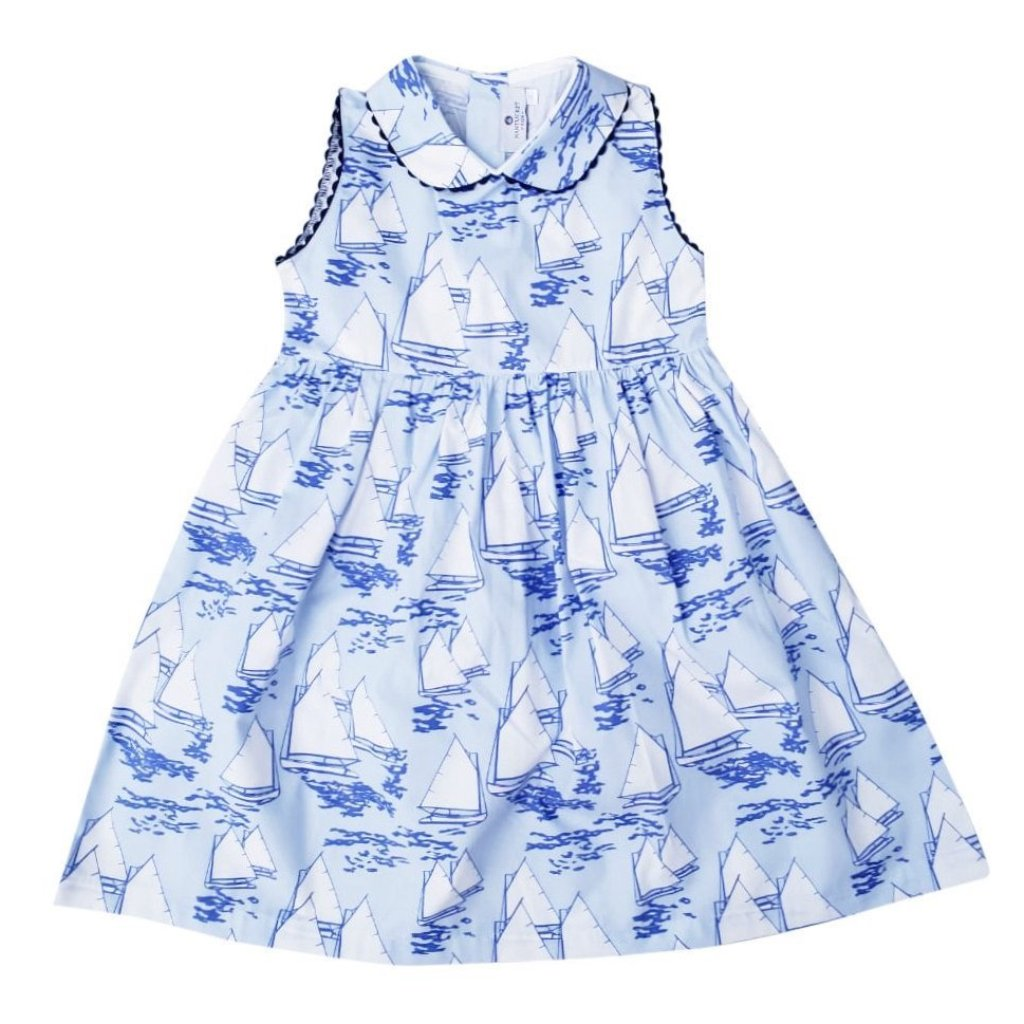 Atlantic Cup Dress-Blue