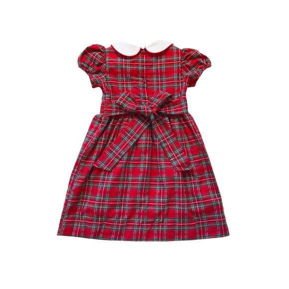 Adelyn Tartan Smocked Dress