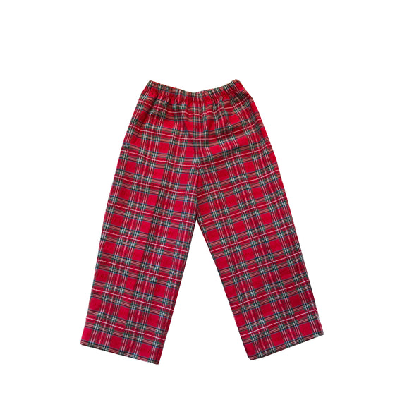 Prep Pants-Seersucker Holiday Tartan