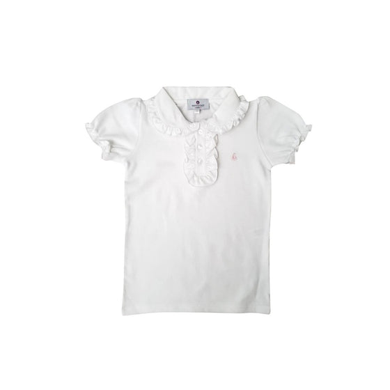 Set Sail Ruffled Pique Polo-Classic White