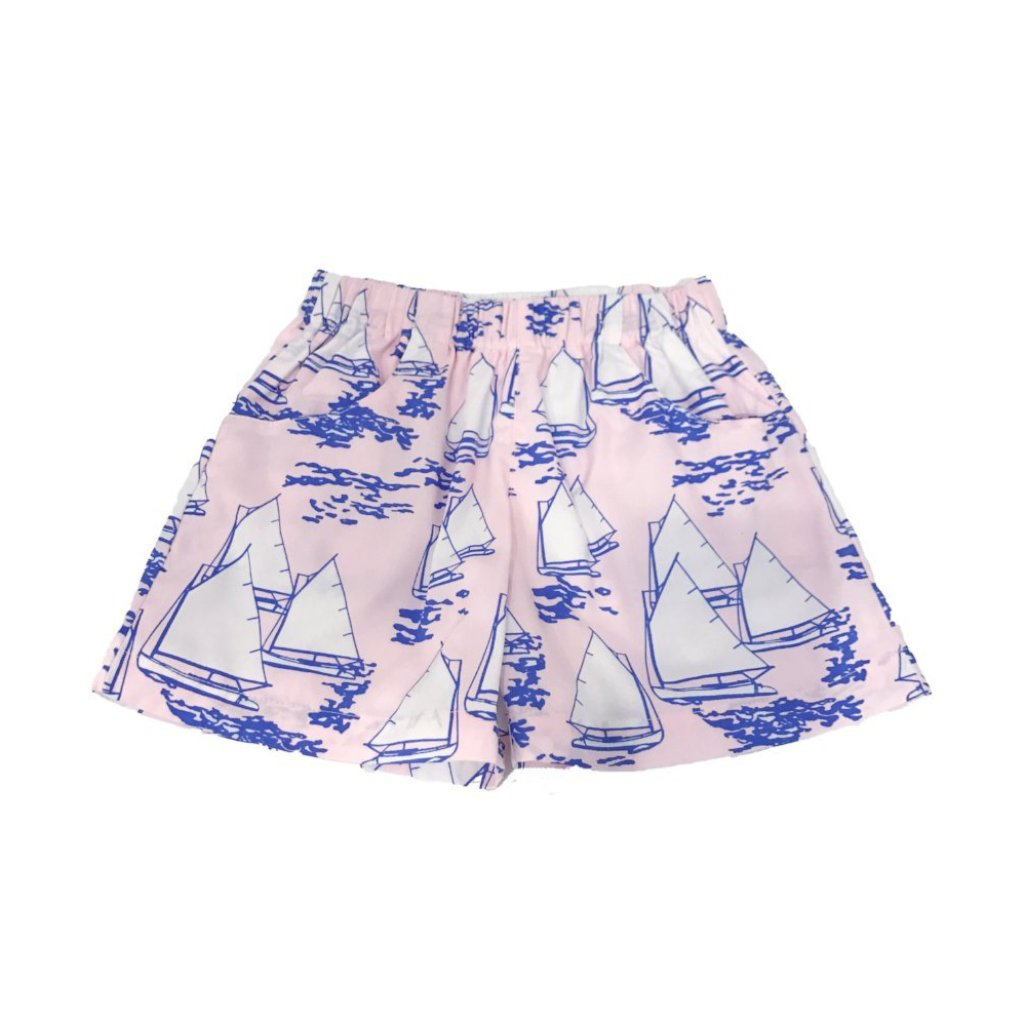 Atlantic Cup Poplin Shorts-Pink