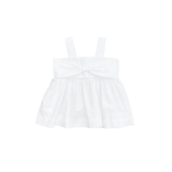 Bitty Bow Tank-Classic White