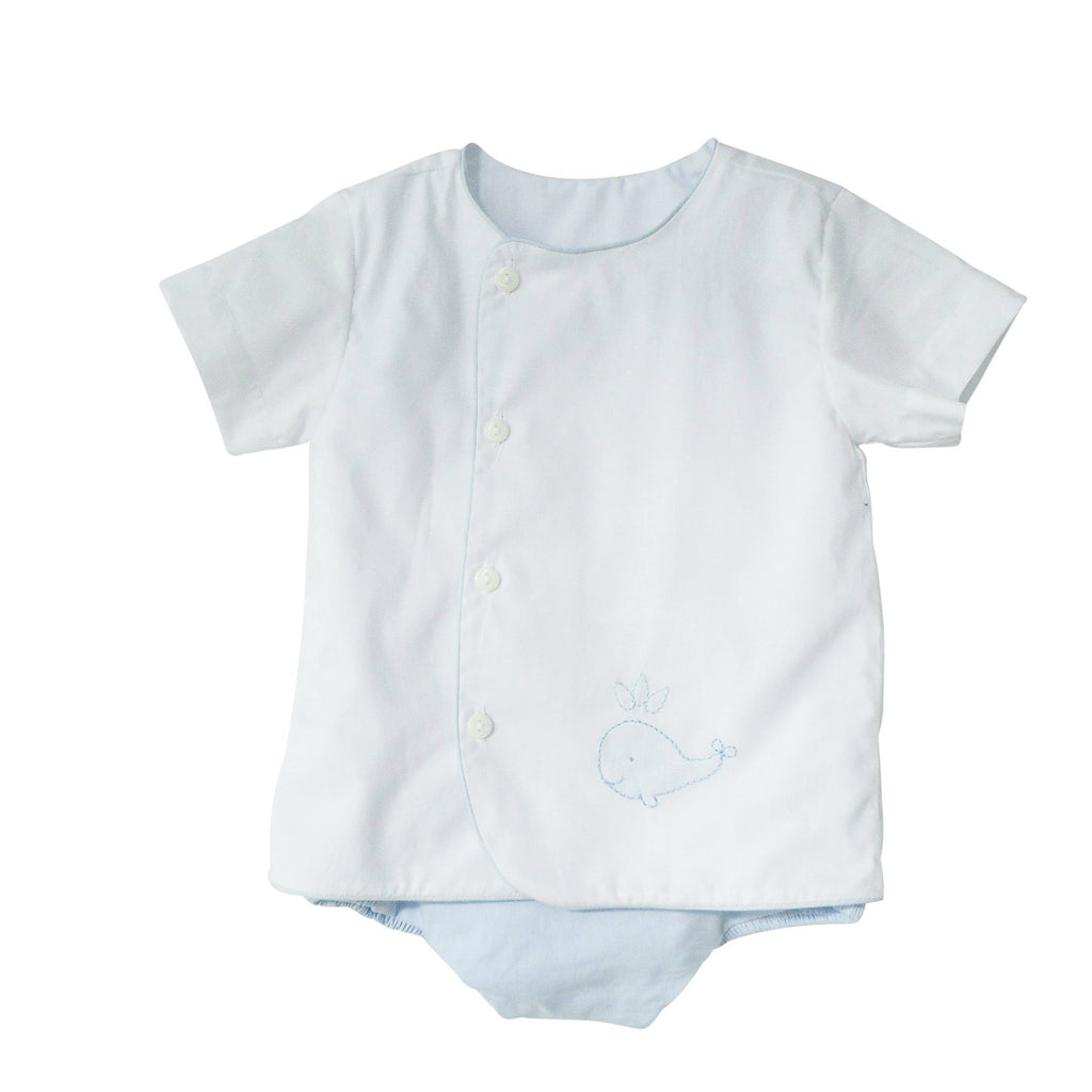 Whale Watch Diaper Set-Baby Blue