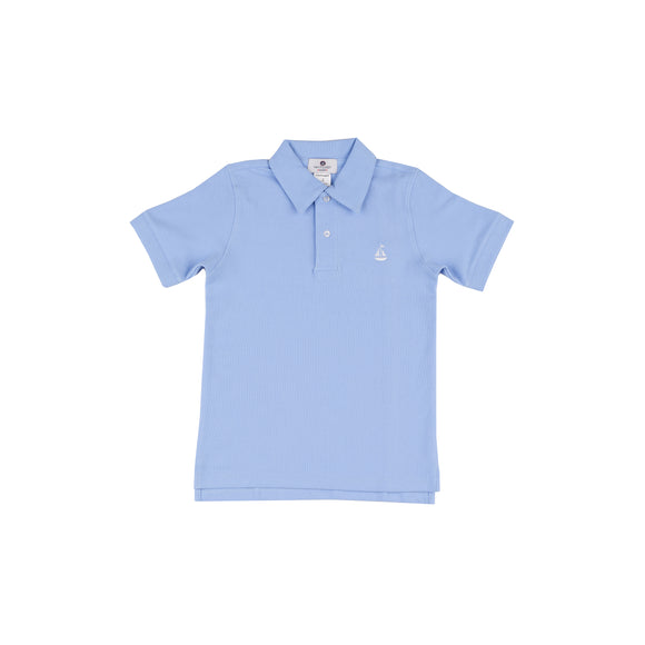 Set Sail Pique Polo-Blue Marlin