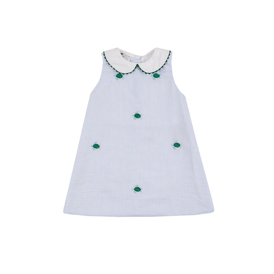 Sea Turtle Seersucker Picnic Dress