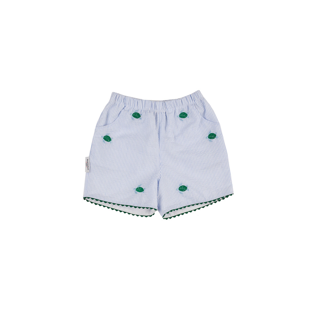 Sea Turtle Seersucker Shorts (Girls)