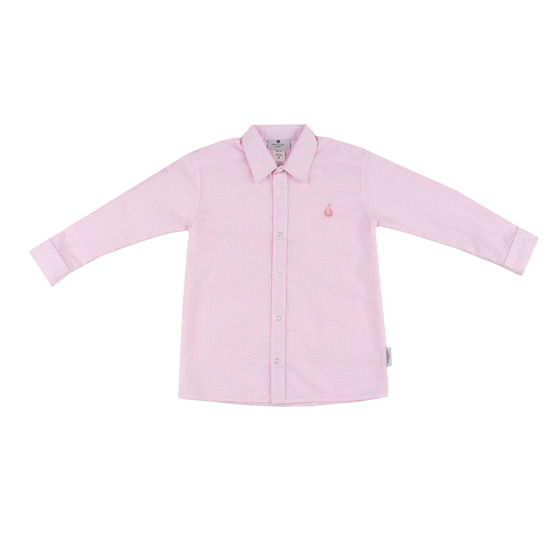 Seersucker Button Down-Pink Seersucker