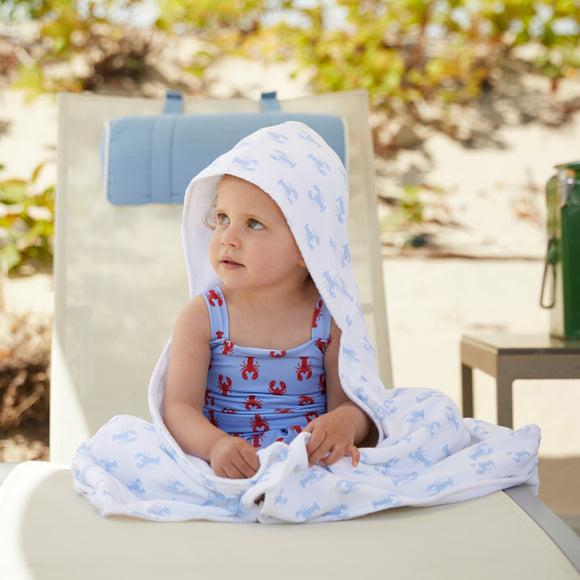 Oversized Hooded Towel-New England Lobster