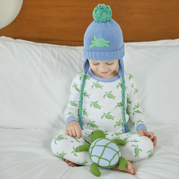 Sea Turtle Pom Pom Hat
