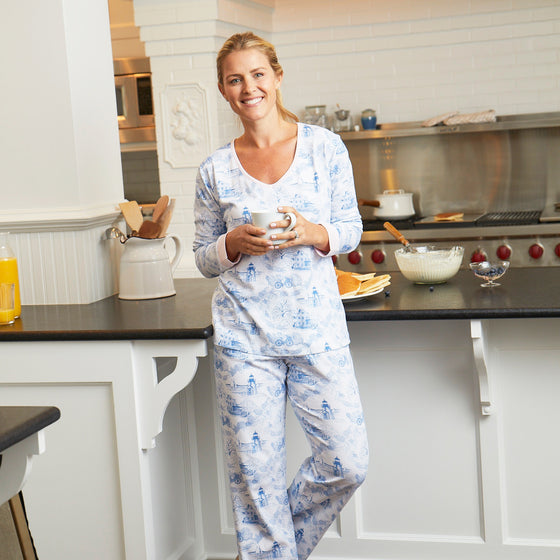 Nantucket Toile Womans Jammies