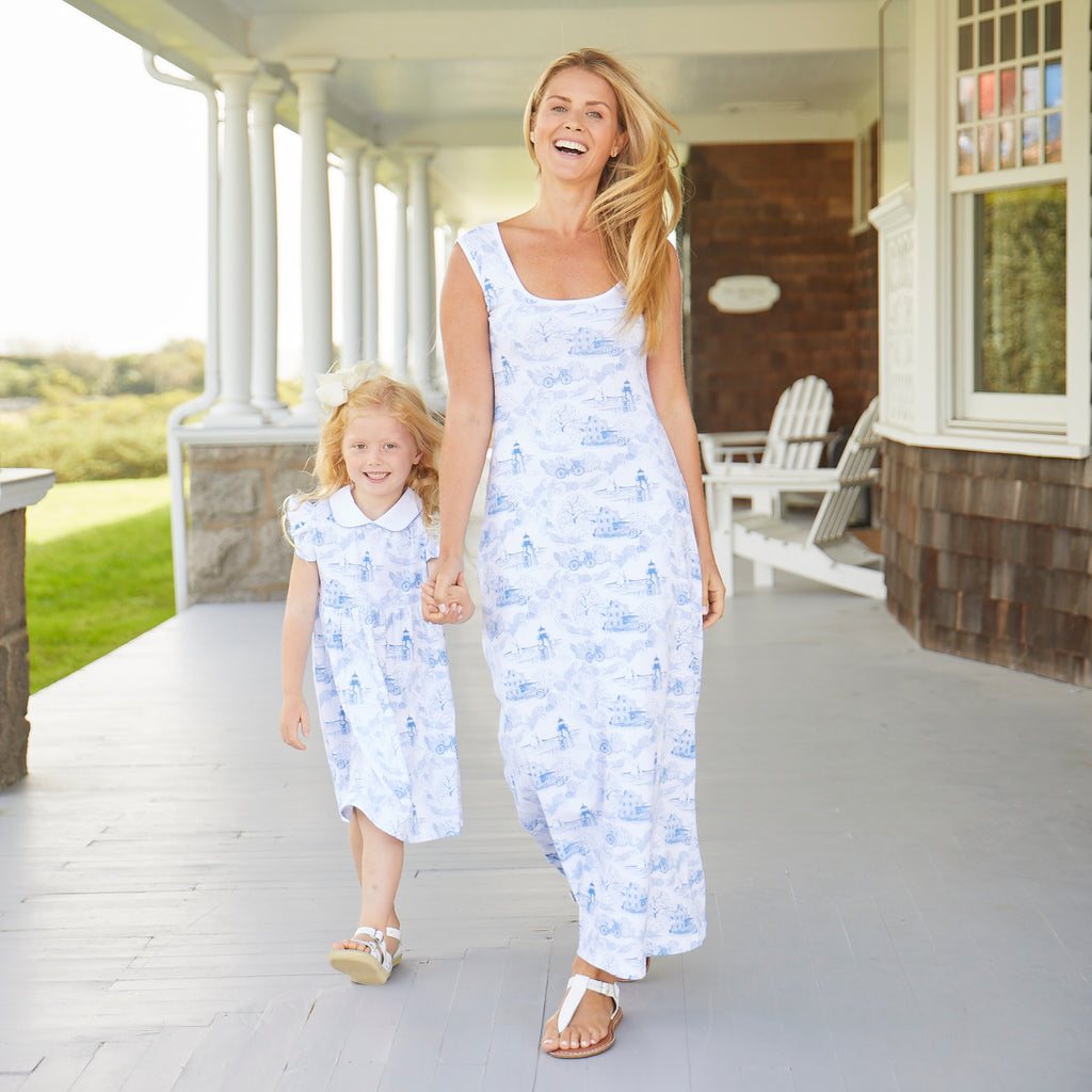 Nantucket Toile Maxi Dress-Women's
