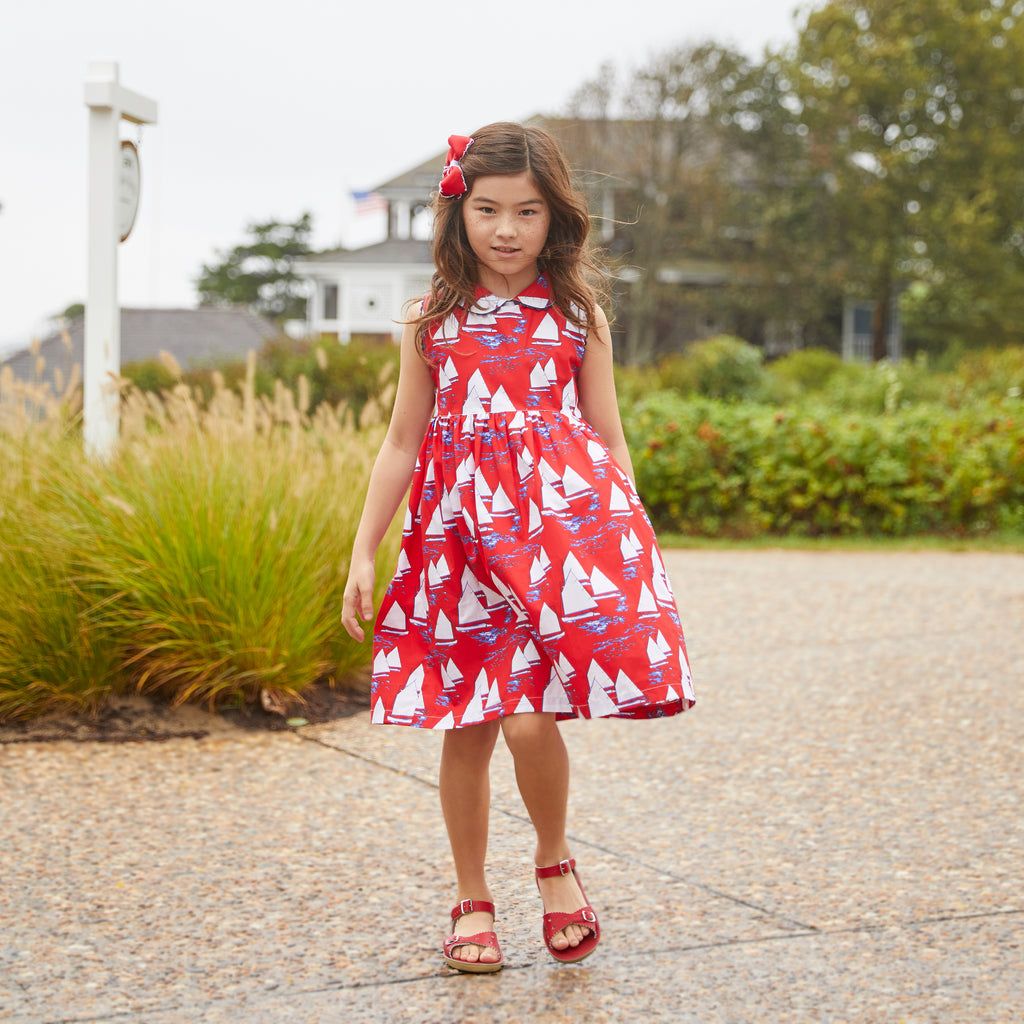 Atlantic Cup Dress-Red