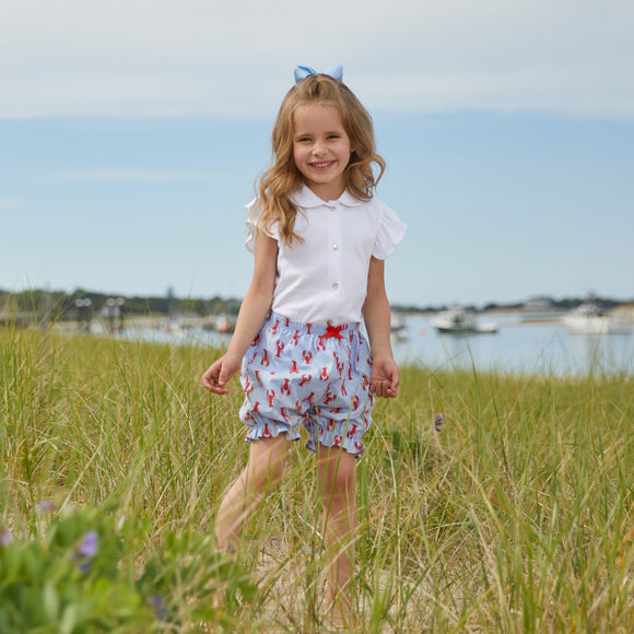 New England Lobster Poplin Bloomer Shorts