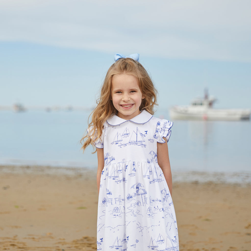 Nellie Dress-Nantucket Toile