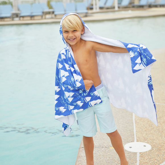 Oversized Hooded Towel-Atlantic Cup