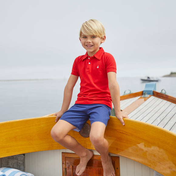Set Sail Pique Polo-Royal Red