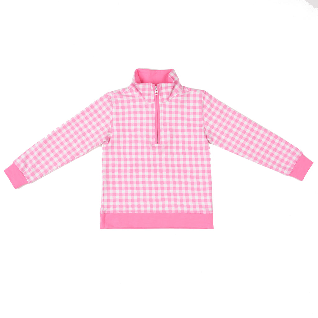 Port Pullover-Watermelon Gingham