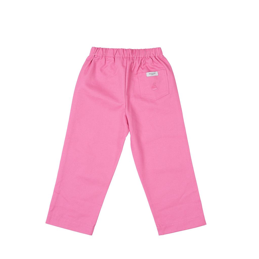 Girl's Prep Pants-Watermelon Twill