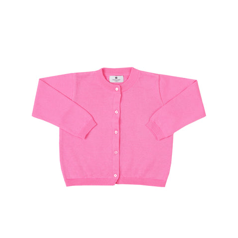 Pima Cotton Cardigan-Watermelon