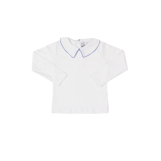 Pima Peter Pan Collar with Cornflower Trim