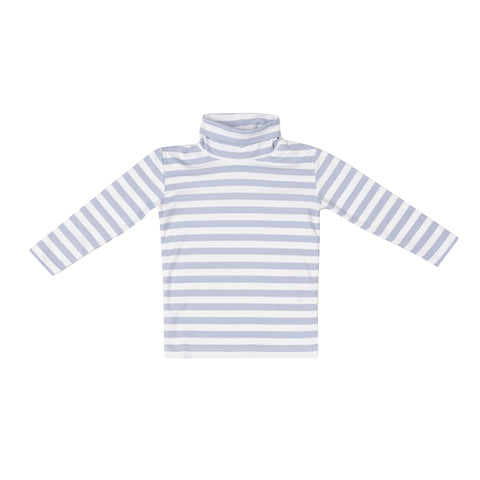 Tisbury Turtleneck-Cornflower Stripe