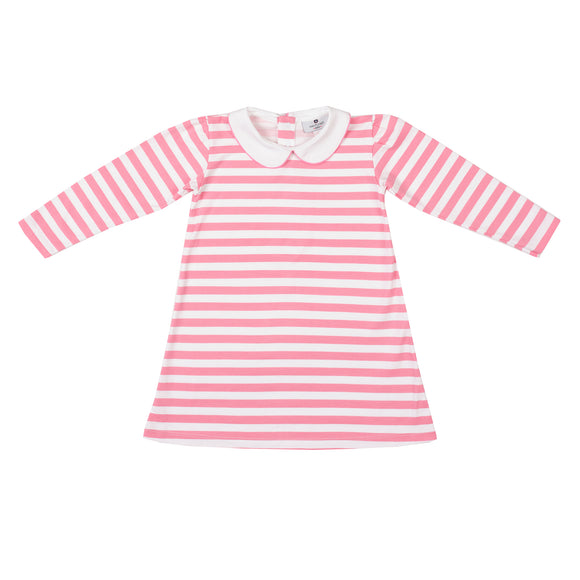 Pima Play Dress-Pocomo Pink Stripe