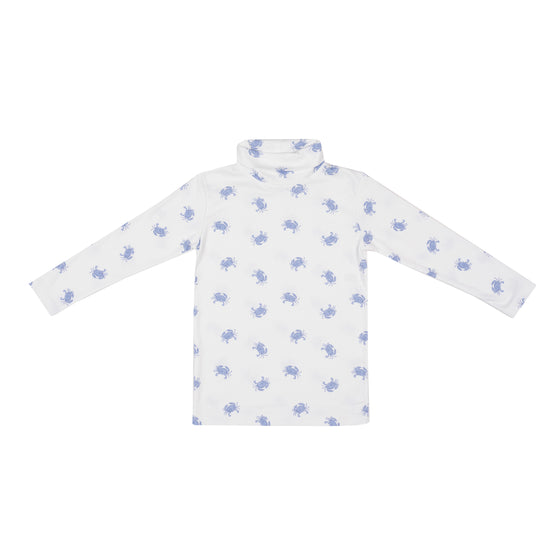 Tisbury Turtleneck-Blue Crab