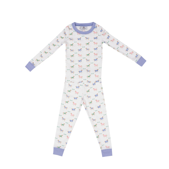 Nautical Equestrian Pima Jammies 2-Piece Set