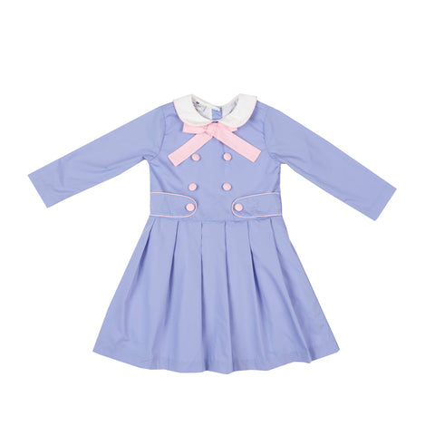 Skipper Dress-Cornflower Blue