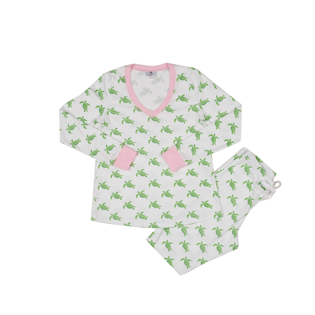 Women's Sea Turtle Pajamas-2 Piece Set