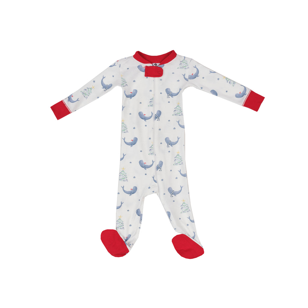 Seas and Greetings Pima 1-Piece Footie