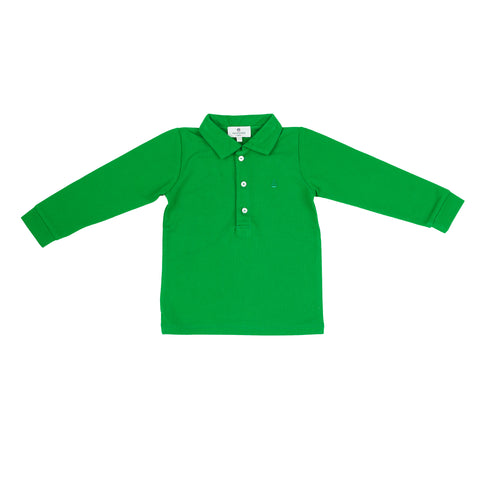 Set Sail Long Sleeve Pique Polo-Greenwich Green