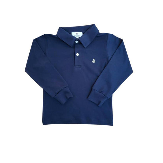 Set Sail Pima Polo-Nautical Navy