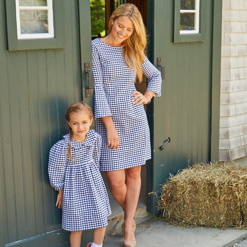 Celeste Dress-Nautical Navy Gingham