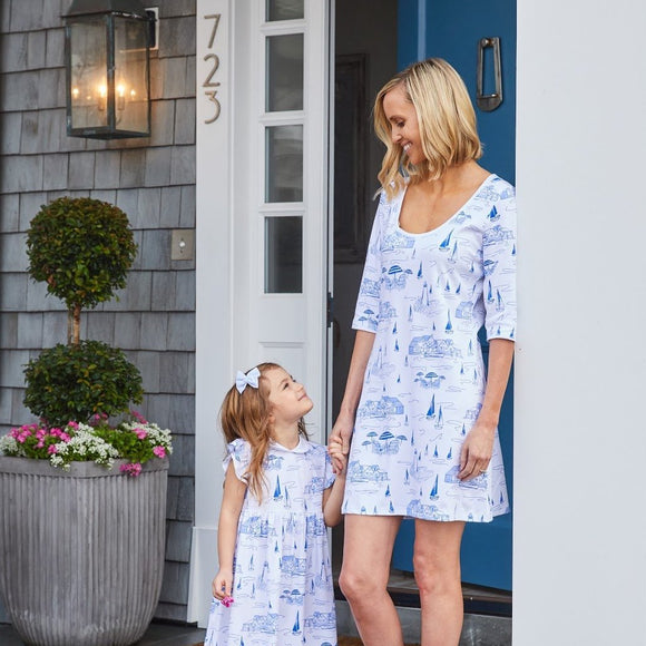 Nantucket Toile Women's Dress
