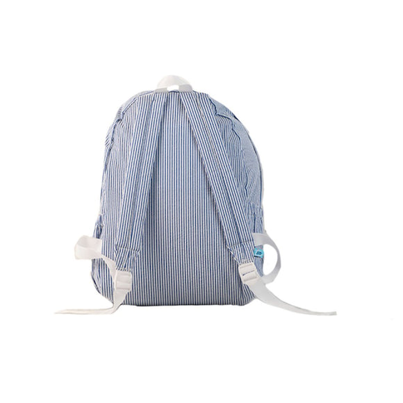 Seersucker Backpack-Blue PALM BEACH CREW