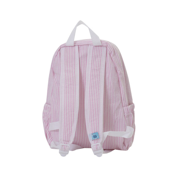 Seersucker Backpack-Pink PALM BEACH CREW