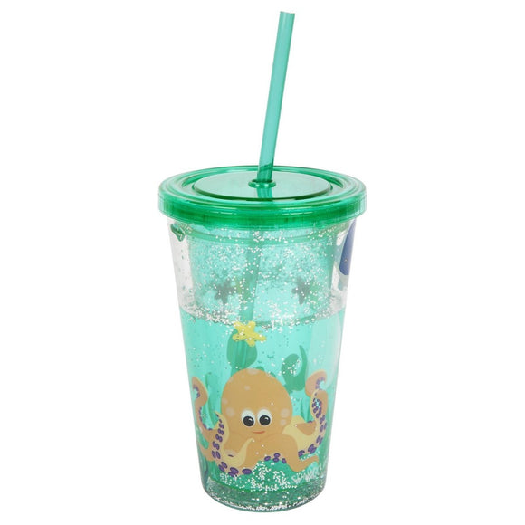 SUNNYLIFE KIDS GLITTER TUMBLER- UNDER THE SEA